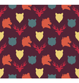 Wildlife seamless pattern vector image