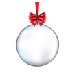 xmas transparent ball vector image vector image