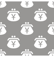 Yen purse seamless pattern vector image vector image