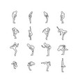 yoga poses set outline sketch vector image vector image