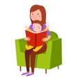 Young mother character vector image vector image