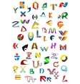 Abstract geometric alphabet icons vector image
