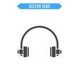headphone flat icon vector image