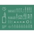 icon set of vaping e-cigarette vector image