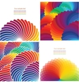 Set of four abstract background with spectrum vector image