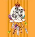 sketch cheetah vector image