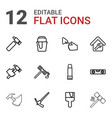 12 repair icons vector image vector image