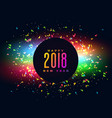 2018 happy new year colroful party background vector image vector image