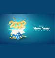 2022 happy new year xmas vector image vector image