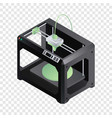 3d printer icon isometric style vector image vector image