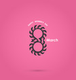 8 march logo design and international women day vector image