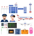 Airport aviation transport set vector image vector image