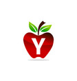 apple letter y logo design template vector image vector image