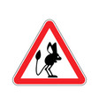 attention jerboa caution steppe animal red vector image vector image