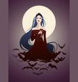 beautiful vampire-01 vector image