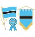 botswana flags vector image