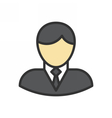 Businessman Outline Icon vector image vector image