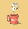 cartoon cup coffee vector image