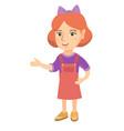 caucasian little girl gesturing with her hands vector image vector image