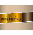 christmas ripped paper vector image vector image