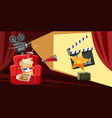 cinema movie award icons set cartoon style vector image vector image
