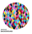 colorful circle of rhombuses vector image vector image