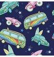 Dark Blue Surfboards On Transport Cars vector image