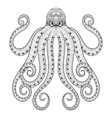 entangle octopus print for adult coloring vector image