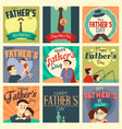 fathers day cards vector image vector image