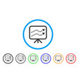 financial trends rounded icon vector image vector image