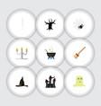 flat icon celebrate set spirit witch cap vector image vector image
