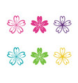flower icon design vector image vector image