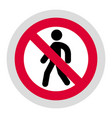 forbidden sign modern round sticker vector image vector image
