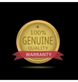 Genuine quality label vector image vector image
