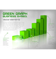 graph green text vector image
