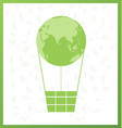 green globe balloon and leaf design vector image vector image