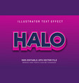 halo text effect vector image vector image