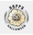 Happy Halloween badges logos and labels for any vector image