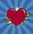 Heart pierced with arrow vector image
