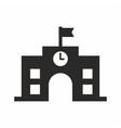 high school icon vector image vector image