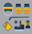 hockey uniform and accessory in flat style vector image vector image