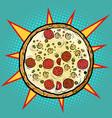 italian pizza mushrooms sausage vector image