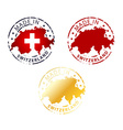 made in Switzerland stamp vector image vector image