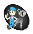 master repair keys and locks vector image vector image
