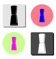 nail polish flat icon vector image