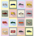 old retro transport flat icons 20 vector image