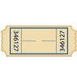 Paper ticket vector image