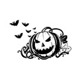 pumpkin composition vector image vector image