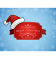 Red Christmas label with Merry Christmas and Happy vector image vector image