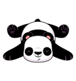 Resting panda vector image vector image